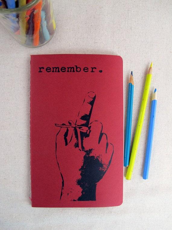 remember -- screenprinted moleskine journal