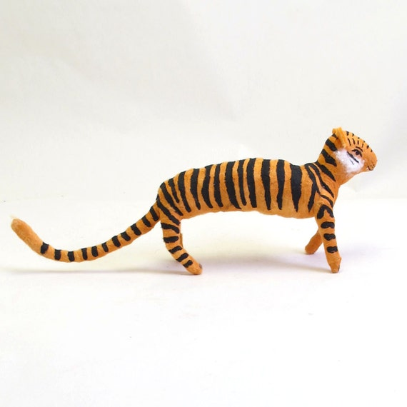 Vintage Style Spun Cotton Tiger Ornament/Figure