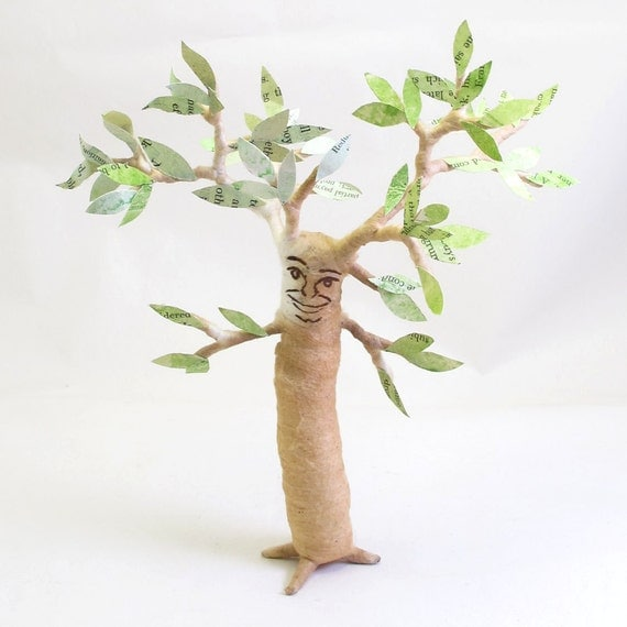 Spun Cotton Vintage Inspired Tree Man