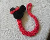 Minnie/ Mickey.... Paci Clip..Pacifier Clip