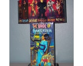 BRIDE OF FRANKENSTEIN Vintage Aurora Monster Model LamP and LampShadE