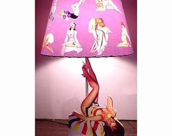 Pin Up Girl Lamp and Lamp Shade