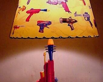 Pyrotomic Ray gun Lamp and Lampshade