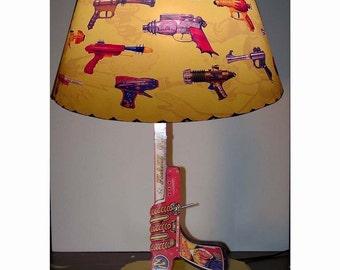 Flash Gordon Ray Gun Lamp and Lampshade