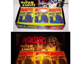 1960s Outer Limits Gum Card Wax Box LAMP and NIGHT LIGHT
