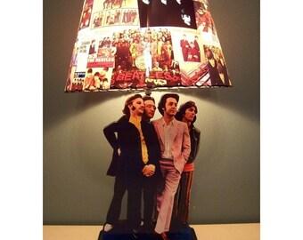 Custom Made BEATLES Record Lamp Shade and Lamp base  MUST SEE