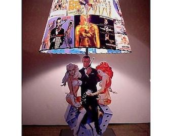 Custom James Bond Lamp and Lamp Shade