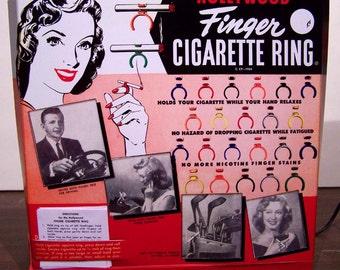 Hollywood Finger Cigarette Ring CUSTOM TV LAMP 1954 groovy