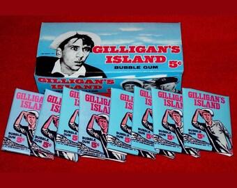 1965  GILLIGANS ISLAND Wax Bubble Gum Card display box reproduction