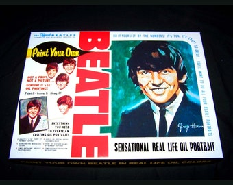George Harrison Beatles PAINT By NUMBER KIT reproduction Artistic Creations 1965