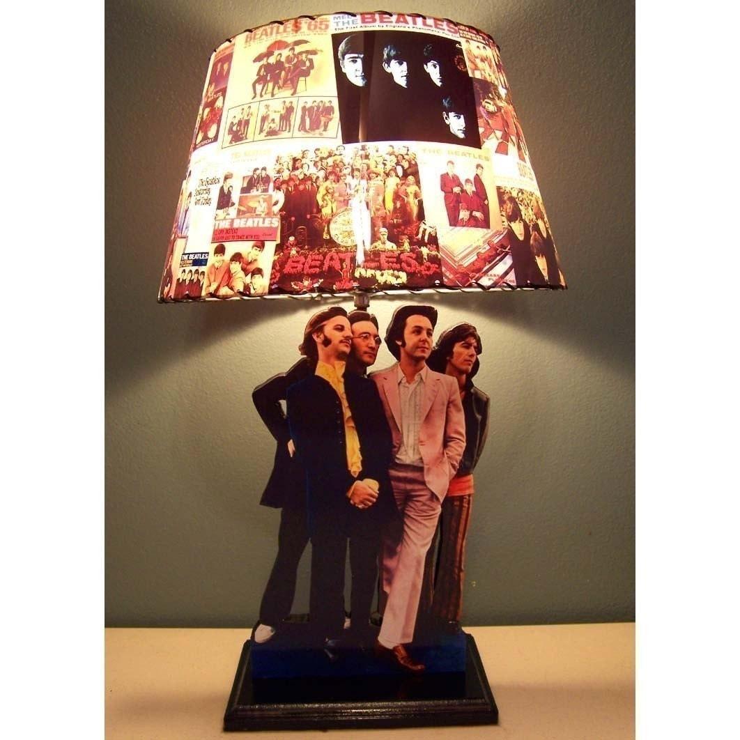 Custom Made Lamp Shade: ... Custom Made BEATLES Record Lamp Shade and Lamp base MUST SEE. ð???zoom,Lighting