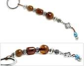 Amulet Keyring-Key Chain - High Quality Artificial Resin, Evil Eye & Cross