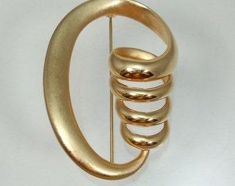 Very Large Krementz Twist Pin Stylish Never Worn