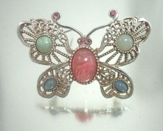 Art butterfly jewelry pin vintage