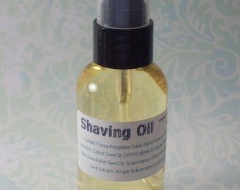 Shaving Oil for preshave or waterless shave clean rinsing formula