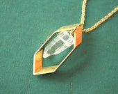 Hexagon Crystal Necklace