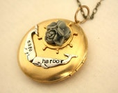 Personalized Whales BIG Locket Choice of Flower