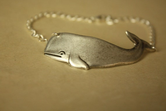 Silver Personalized Whales BRACELET