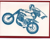 motorcycle daredevil letterpress cards pack of 6