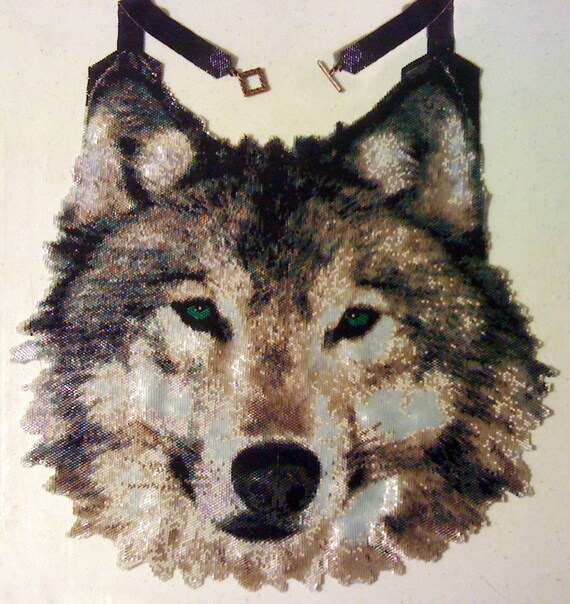 Peyote Pattern For Large Wolf Necklace