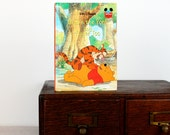 Kindle Cover, Nook Cover -Winnie the Pooh and Tigger Too- made to order device case made from recycled vintage book