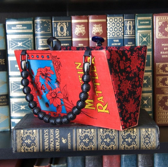 Martin Rattler Book Purse - made from recycled vintage book