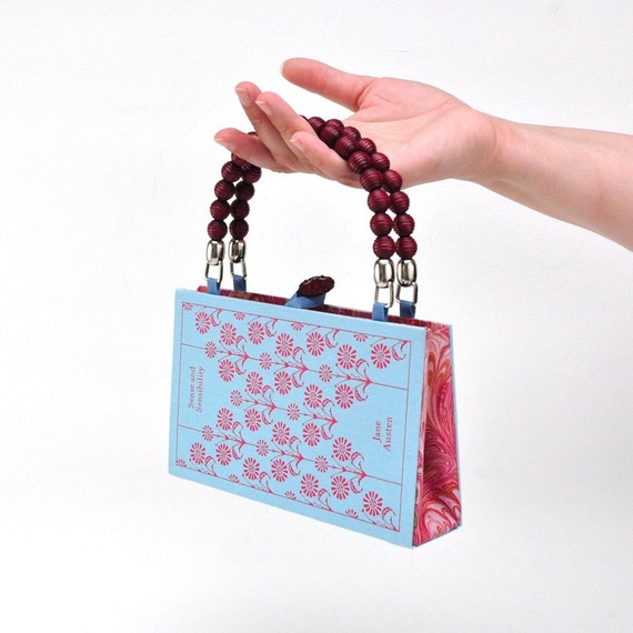 Custom Sense and Sensibility Book Purse- Purse made from Recycled Book