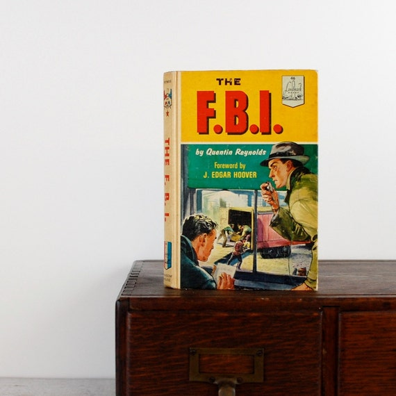 Kindle or Nook Cover -The FBI- made to order device case made from recycled vintage book