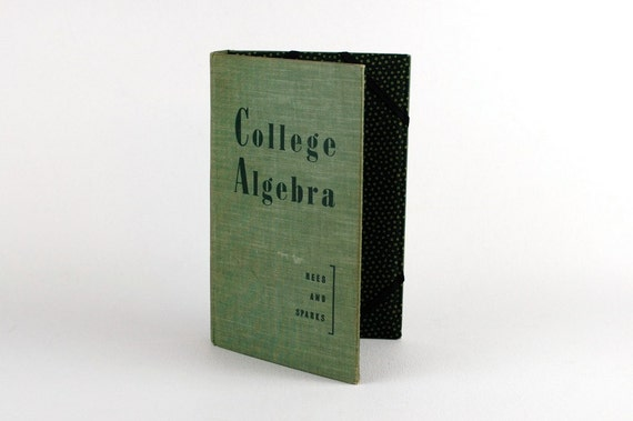 Kindle Fire Cover, Kindle 3G Cover, Nook Cover-College Algebra - device case made from recycled book