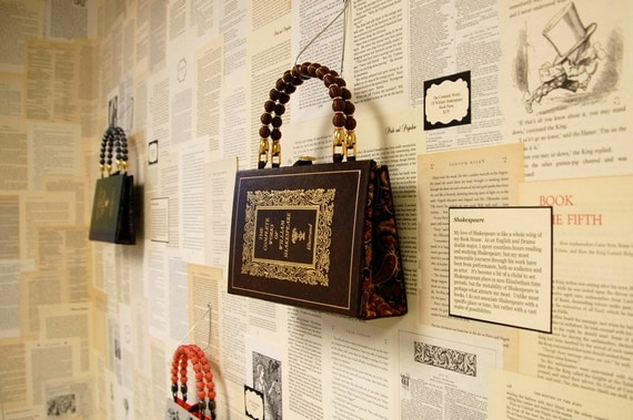 Artomatic 2012 Book Purse - Shakespeare - Journeys Through My Book House - made from recycled vintage book