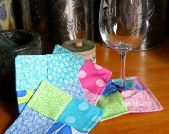 Hodge Podge Scrappy Modern Coasters - Set of Four