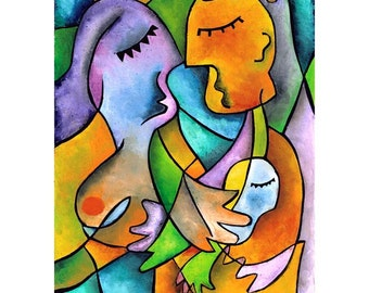 Mother, Father, Child - 11x14 matted print by Joel Traylor