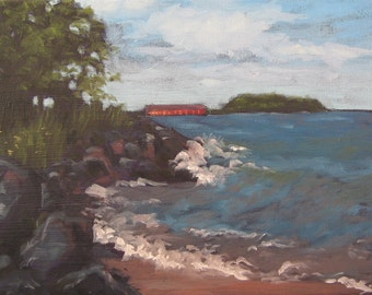 Welcome to the U.P.- Small Original Landscape Painting