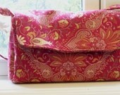 Cinnabar Red Tapestry Handbag - The Haley