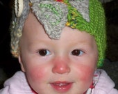 Upcycled and Recycled child's headband