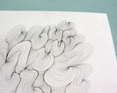 Swirly // Abstract Original Pen and Ink Drawing