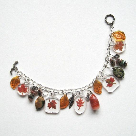 Charmed Real Autumn Leaves - Woodland Bracelet
