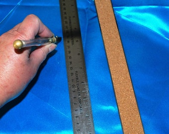 Glass Cutting Help.   12 inch (30 cm) Stainless Steel ruler With no slip Cork Backing for straight edge scoring