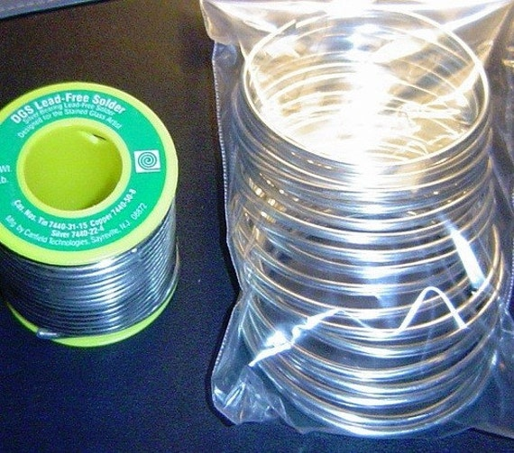 8 oz. SOLDER - Half Pound Roll Lead Free Solder by Canfield ((( DGS ))) with Sterling SILVER.  Less expensive alternative for jewelry art.