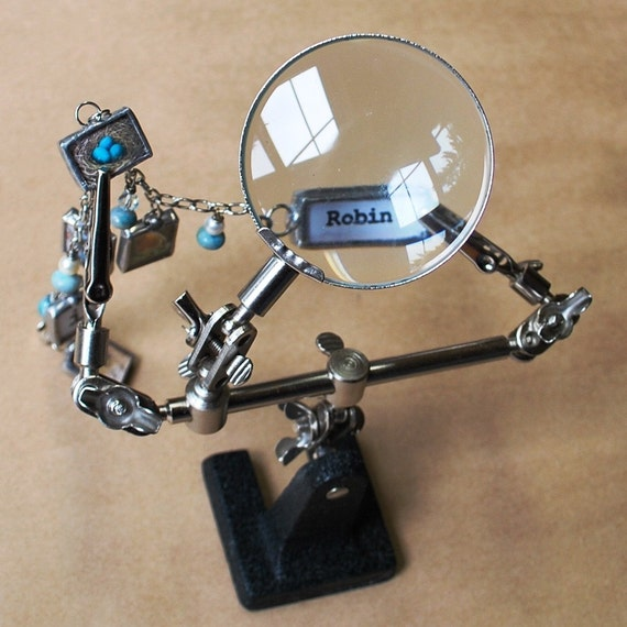 Soldering HELP Holds pieces while you solder. Third Hand Magnifier Helping Hands with Magnifying Glass