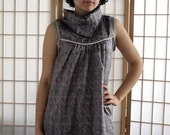 SUPAYANA spring 2008 grey cotton tunic with piping