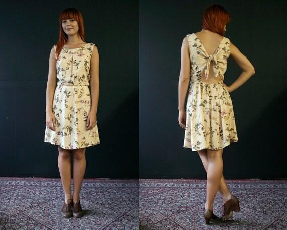 SUPAYANA botanical tie-back dress Fits Small through Medium