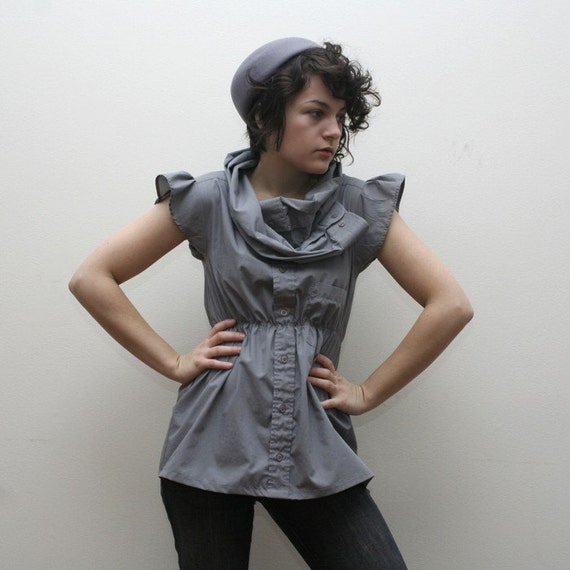 SUPAYANA grey reconstructed top- your size