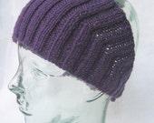 Wool Head Wrap Purple - Calorimetry headwrap , headband , ski headwear, ear warmer