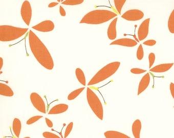 Moda Chrysalis by Sanae Release Cream Orange cotton Fabric by the yard 32422-17