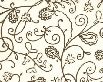 Moda Chrysalis by Sanae Vines Cream Brown cotton Fabric by the yard 32423-25