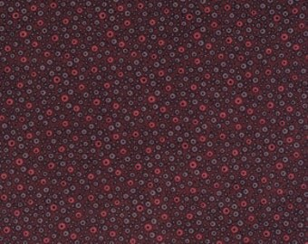 Denyse Schmidt Flea Market Fancy Legacy Collection Fizzy Dot Red Brown cotton Fabric by the yard