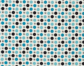 Denyse Schmidt Flea Market Fancy Legacy Collection Flower Dots Blue cotton Fabric by the yard