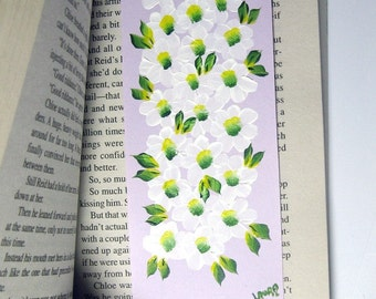Hand-Painted Magnetic Bookmark - Daisies - No. 904