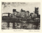 View From North Shore ltd ed etching of Pittsburgh